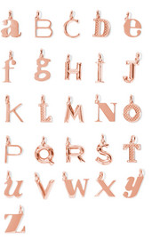 A-Z Alphabet Letter rose gold vermeil pendants