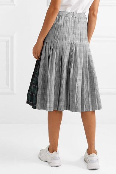 6760018ce6 Sandy Liang. Checked pleated cotton-canvas midi skirt. £475 £14370% OFF.  Reduced further. Play