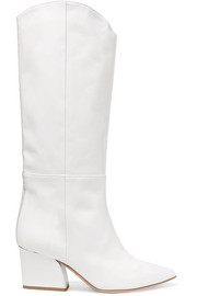 Tibi Logan patent-leather knee boots