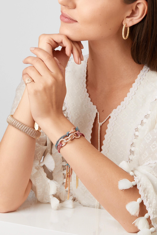 Carolina Bucci Dream Lucky 18-karat gold and silk bracelet