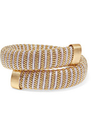 Caro gold-plated and metallic cotton bracelet