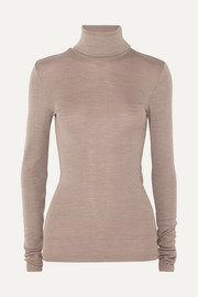 Wool and silk-blend turtleneck sweater