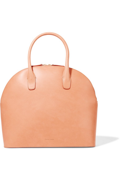 Leather Tote, Camel