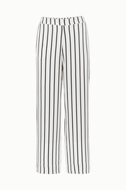 ASCENO Striped silk-satin pajama pants