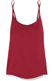 ASCENO Washed-silk camisole