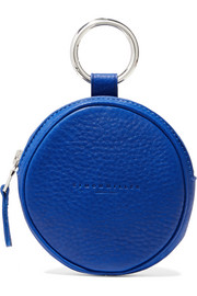 Circle Pop textured-leather pouch