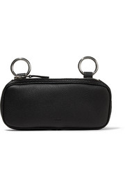 Long Pop textured-leather pouch