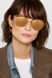 Linda Farrow Cat-eye gold-plated sunglasses