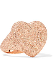 Florentine Heart 18-karat rose gold ring