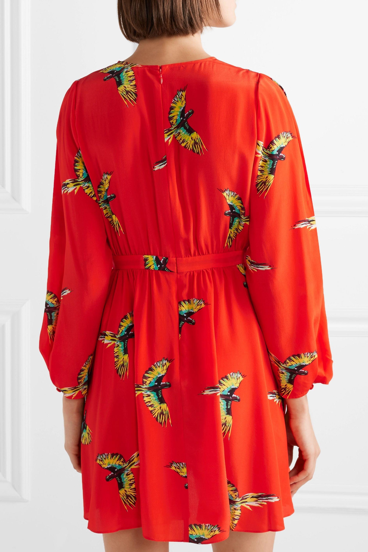 Diane von Furstenberg Printed silk crepe de chine mini dress
