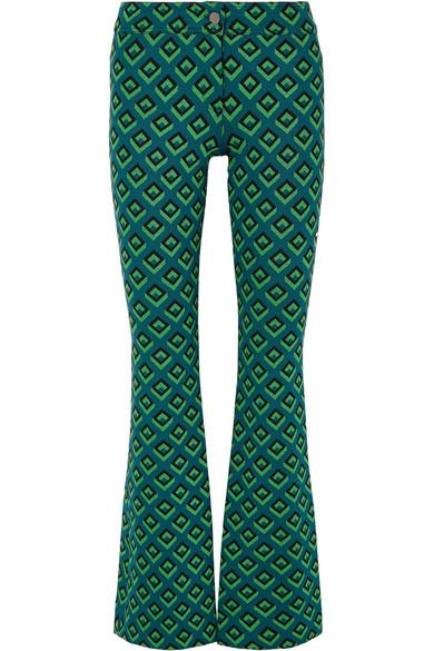 Diane Von Furstenberg Knits JACQUARD-KNIT BOOTCUT PANTS