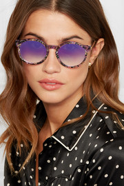 Silenty V113 round-frame acetate and gold-tone sunglasses