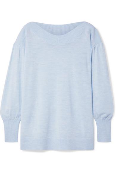 HATCH Caly Merino Wool Sweater in Sky Blue