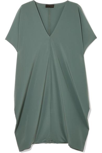 HATCH - The Slouch Crepe De Chine Mini Dress - Jade