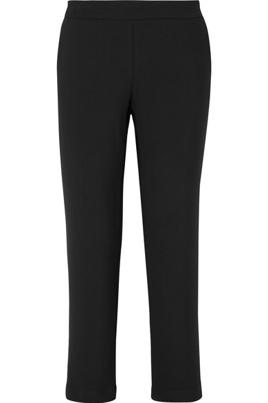 HATCH The Beckett Stretch-Crepe Tapered Pants in Black