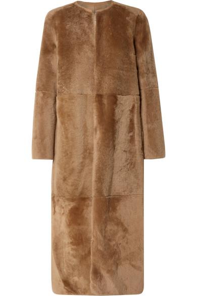 Yves Salomon - Reversible Shearling Coat - Tan