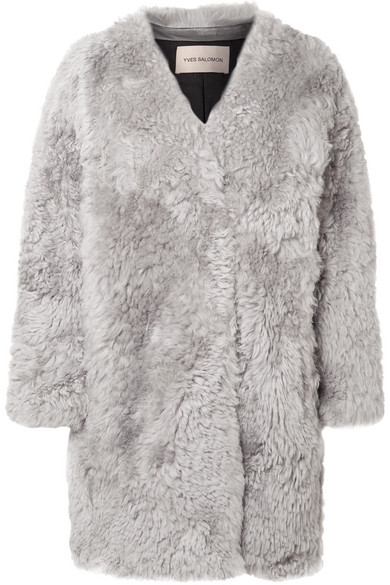 Yves Salomon - Shearling Coat - Gray