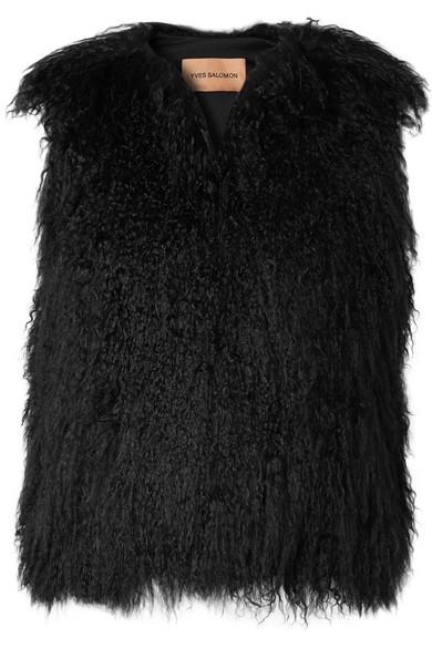 Yves Salomon - Shearling Vest - Black