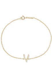 Jennifer Meyer Wishbone 18-karat gold diamond bracelet