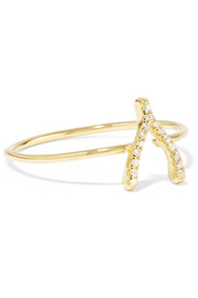 Jennifer Meyer Wishbone 18-karat gold diamond ring
