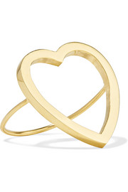 Jennifer Meyer Open Heart 18-karat gold ring