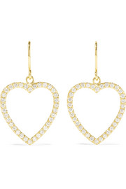 Jennifer Meyer Open Heart 18-karat gold diamond earrings