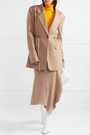 Tibi Ruched canvas blazer