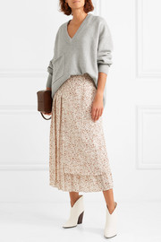 Tibi Oversized asymmetric cashmere sweater