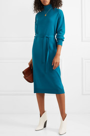 Tibi Merino wool turtleneck midi dress