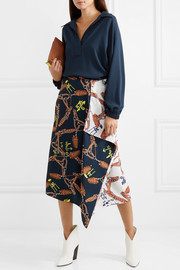Tibi Savanna crepe blouse