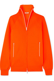 Tibi Neon ribbed stretch-knit cardigan