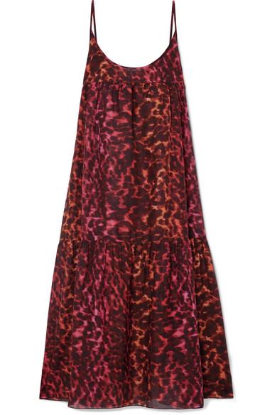 LEOPARD-PRINT COTTON AND SILK-BLEND MAXI DRESS from NET-A-PORTER