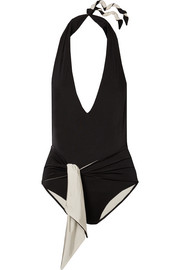 Stella McCartney Ballet belted halterneck swimsuit