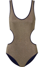 Stella McCartney Cutout stretch-Lurex swimsuit