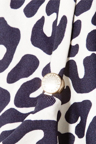 Stella Mccartney Beachwear Leopard-print wrap bikini top