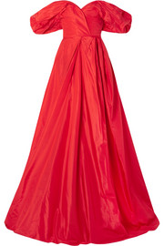 Carolina Herrera Off-the-shoulder silk-taffeta gown