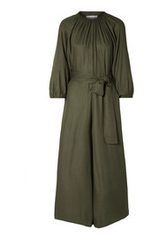 Isla belted voile jumpsuit