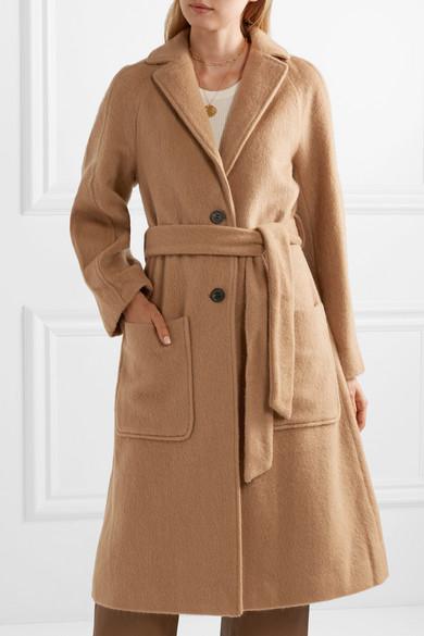 Juul brushed-felt coat