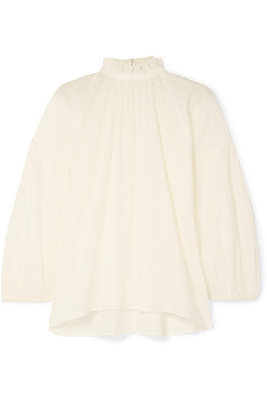 Apiece Apart Victoria ruffled cotton blouse