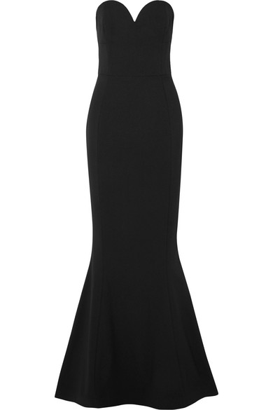 REBECCA VALLANCE Dahlia crepe gown