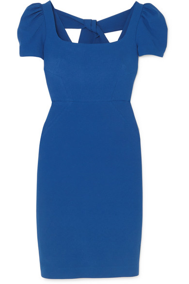 Rebecca Vallance - Poppy Crepe Midi Dress - Blue