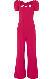 Poppy bow-detailed crepe jumpsuit