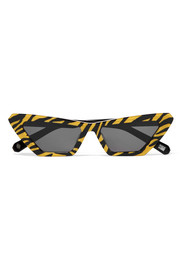 Tiger printed cat-eye acetate sunglasses