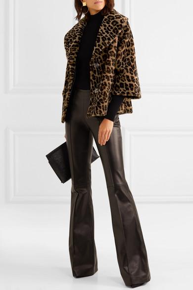 6133b966ce2e Michael Kors Collection   Leopard-print shearling coat   NET-A ...