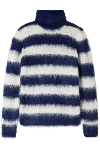ea80f6fda29 Michael Kors Collection. Striped mohair-blend turtleneck sweater