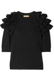 Michael Kors Collection Starlet ruffled cashmere sweater