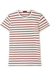 Striped stretch-Pima cotton-jersey T-shirt