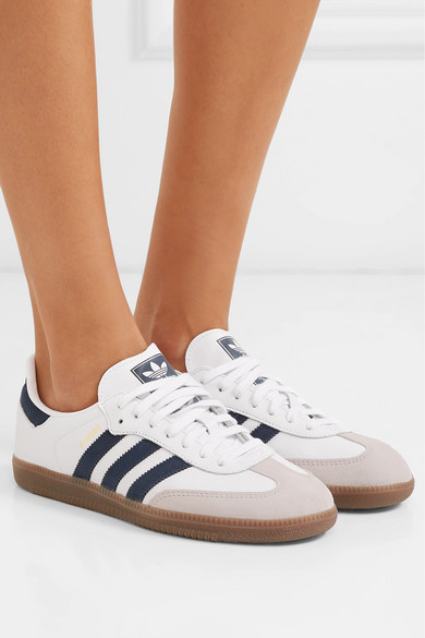 best website 1351a 16eed adidas Originals. Samba OG leather and suede sneakers