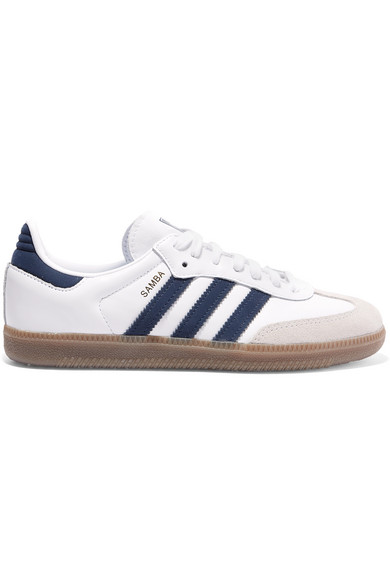Samba Og Leather And Suede Sneakers by Adidas Originals