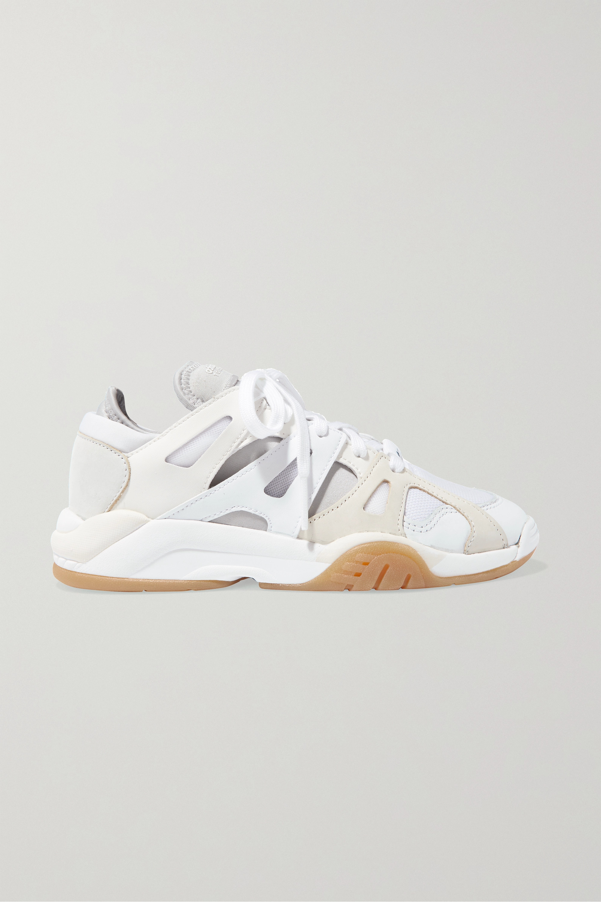 adidas Originals Dimension Low leather, neoprene and mesh sneakers